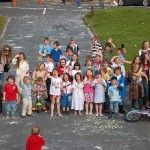 Group photo of children on the Green - Jubilee 2012