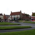 Distance view of The Green ahead of Jubilee celebrations 2012